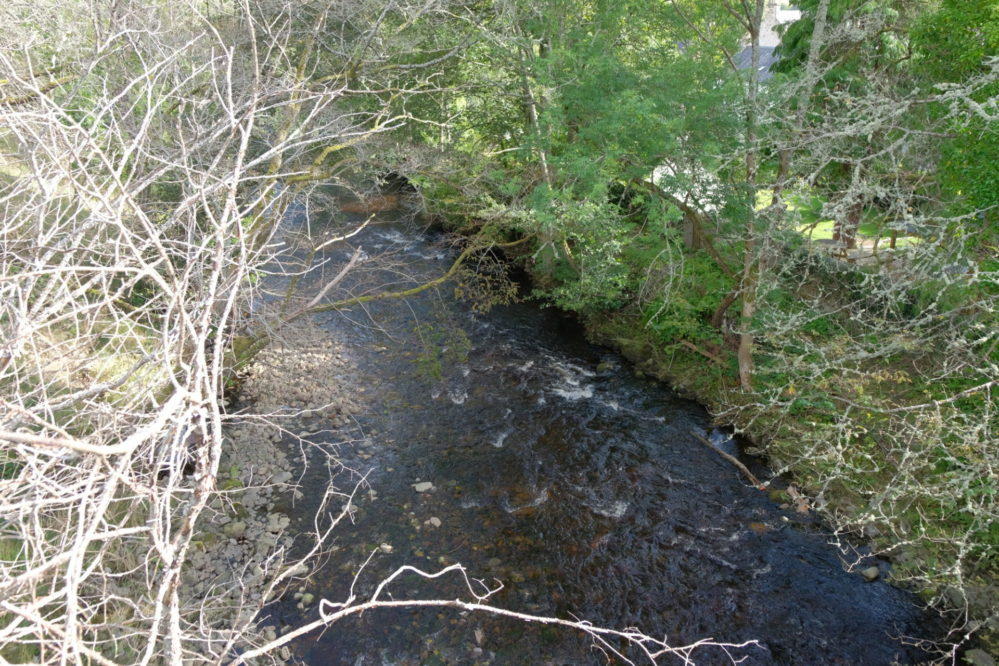 View of the River Enrick from the bridge in Drumnadrochit