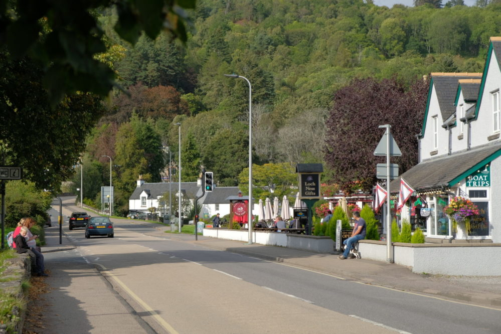 View of Drumnadrochit towards the bridge