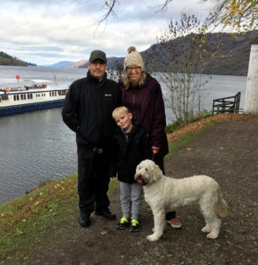 Photo of family in front of Loch Ness in Fort Augustus