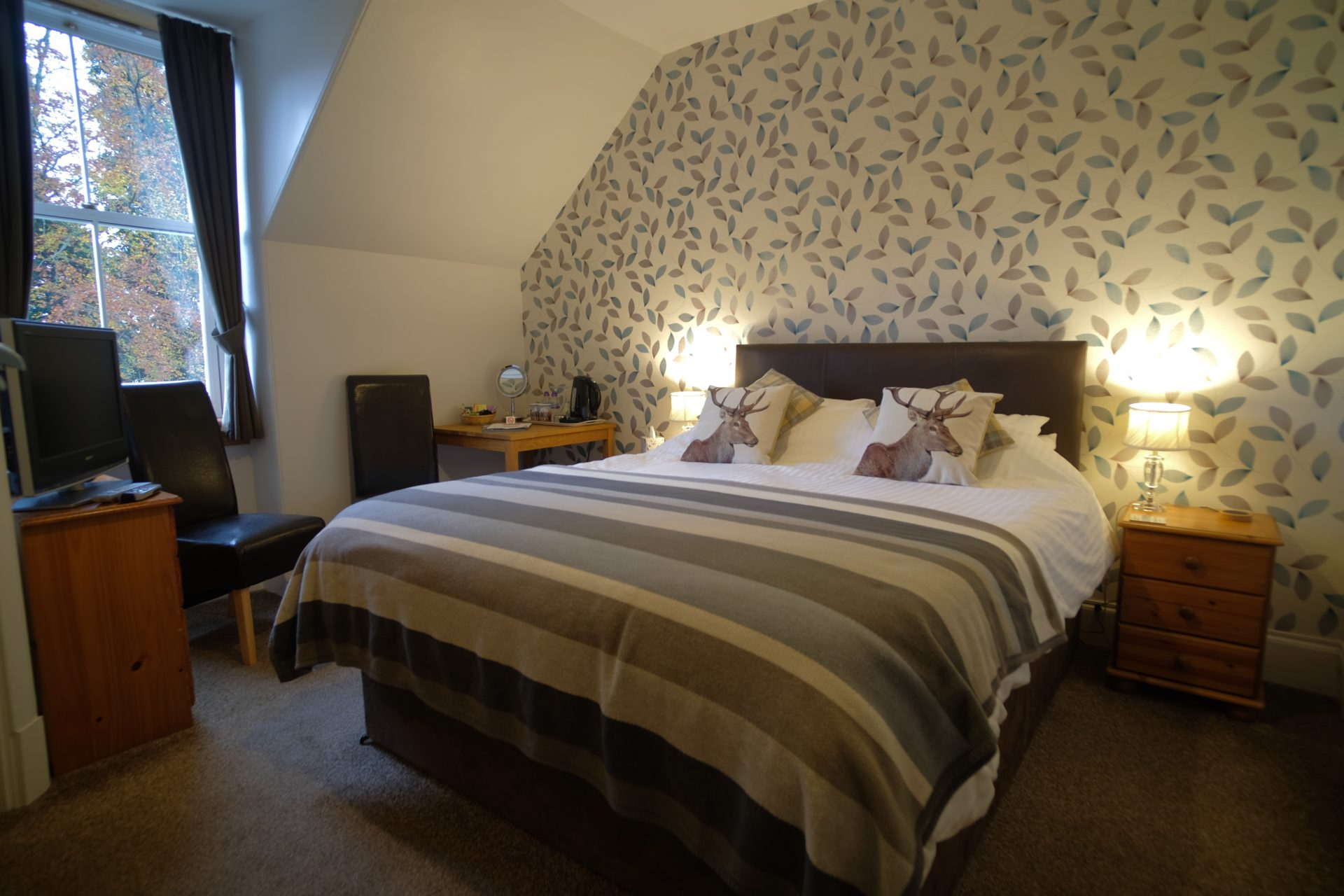 Full view of the Great Glen Double Bedroom with Kingsize Bed