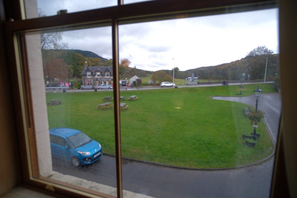 View from the window in the Glen Affric bedroom