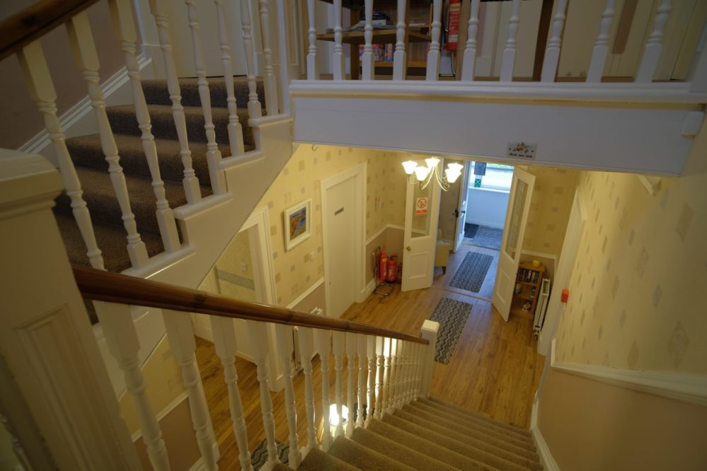 View looking down the stairs at Morlea B&B