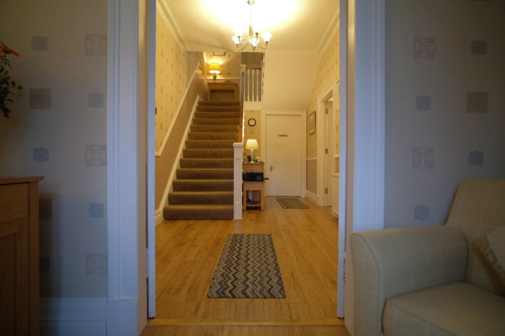 View of the entrance hall to Morlea B&B, Loch Ness
