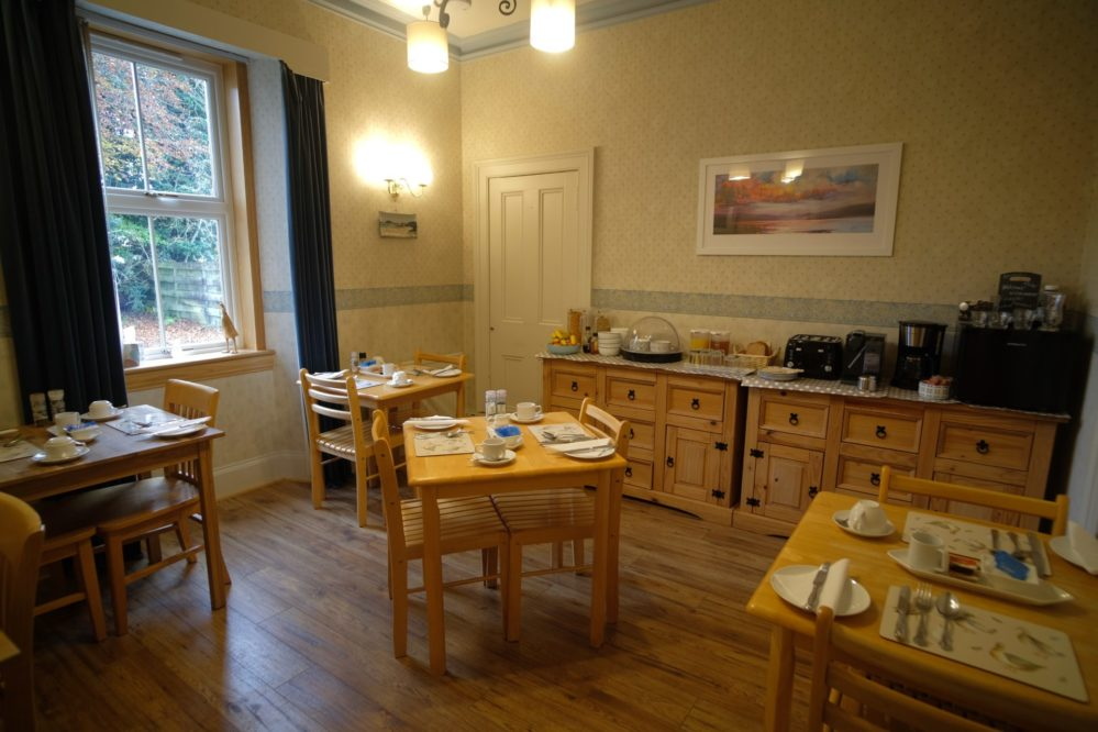 View of the breakfast room at Morlea B&B, Drumnadrochit
