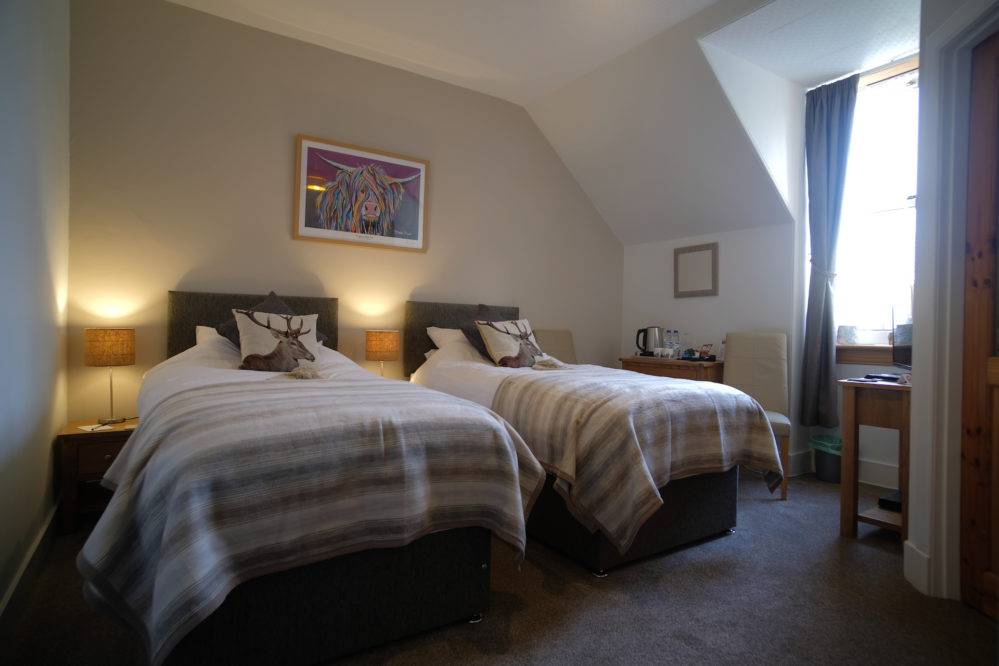 A lovely view of the Glen Etive Twin Bedroom at Morlea B&B Loch Ness