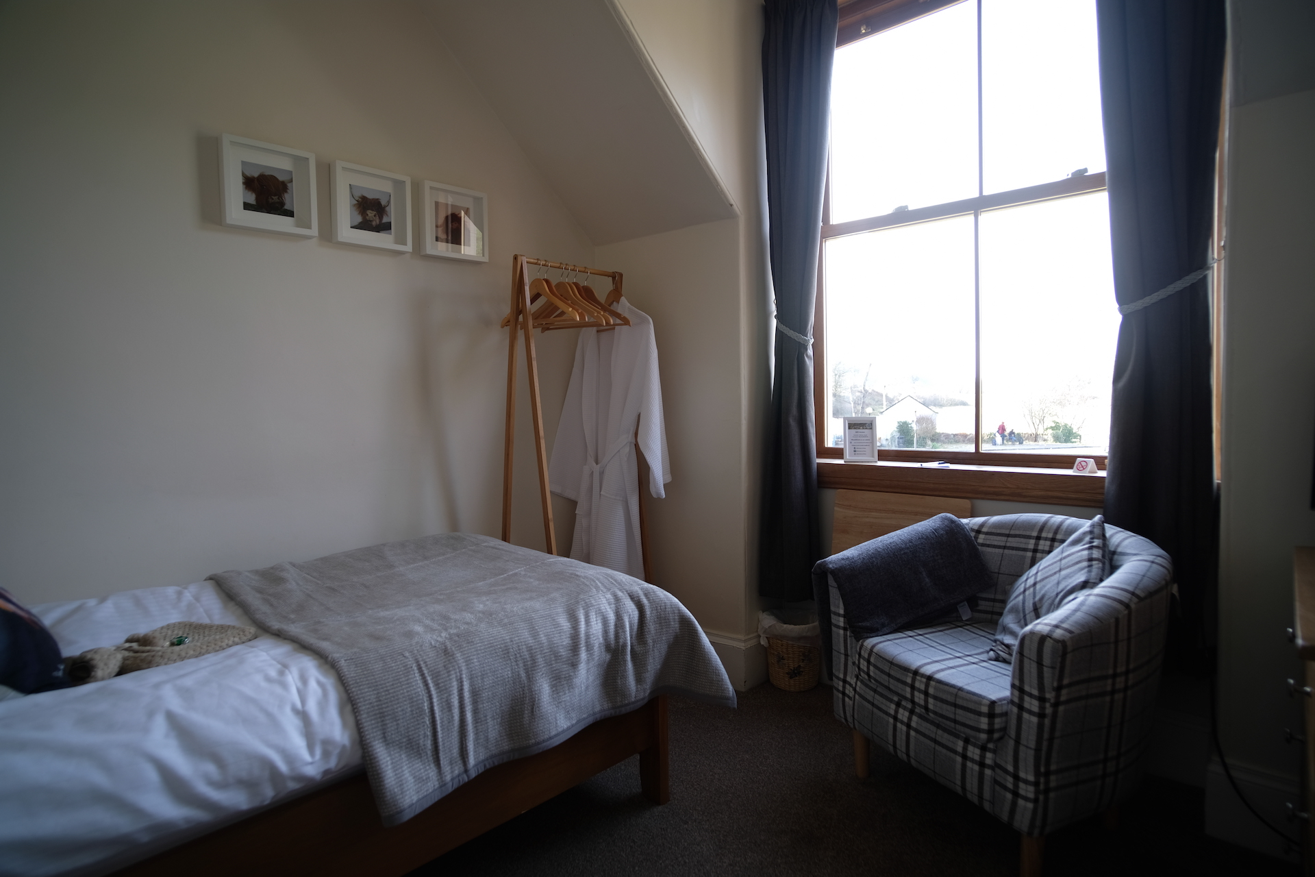 A lovely view of Great Shiel single bedroom at Morlea B&B Loch Ness