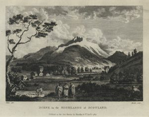 Scotland, A Scene in the Highlands, 1793. A picture of someone's ancestors.