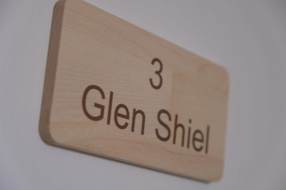 Room 3 Glen Shiel door sign at Morlea B&B