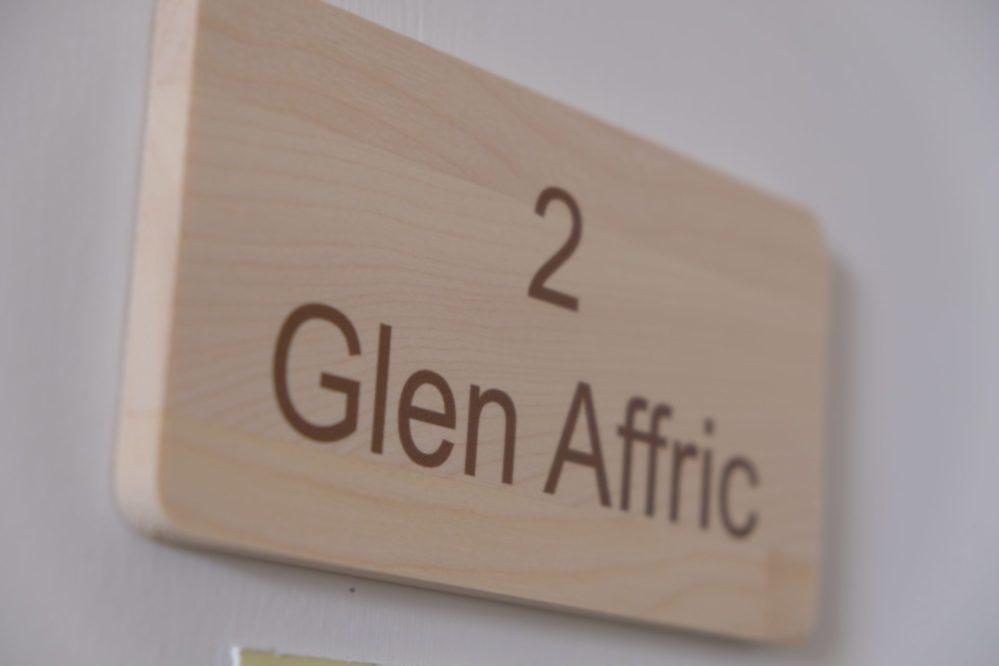 Room 2 Glen Affric door sign