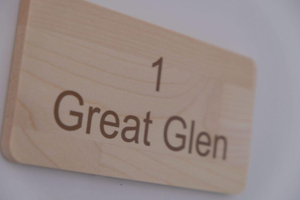 Room 1 Great Glen door sign