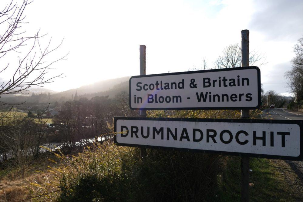 Signpost for Drumnadrochit Loch Ness